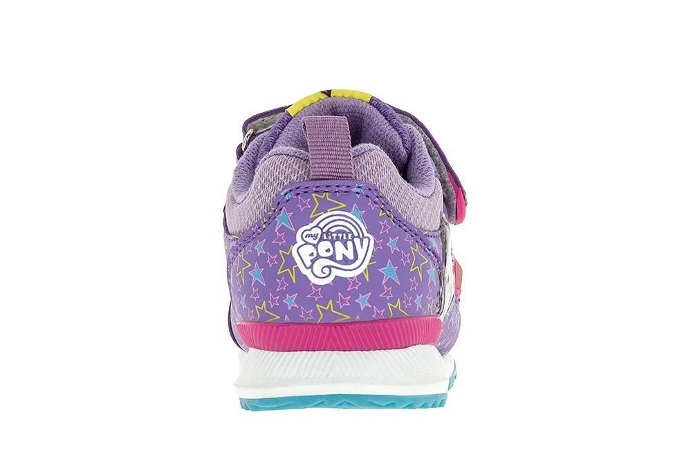 Светящиеся кроссовки Мой Маленький Пони (My Little Pony) на липучках для девочек, цвет сиреневый