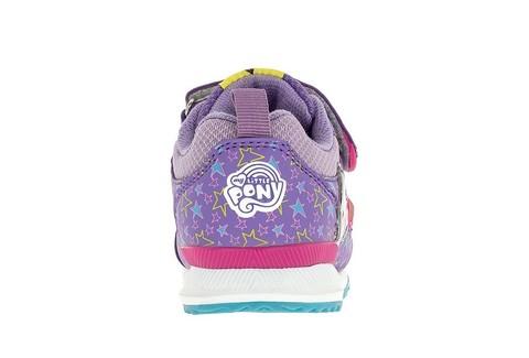 Светящиеся кроссовки Мой Маленький Пони (My Little Pony) на липучках для девочек, цвет сиреневый. Изображение 4 из 5.