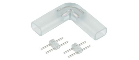 Угловой переходник для светодиодной ленты 220V 3528, 2835 (10 шт.) a035330