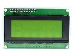 Дисплей LCD2004, 4-строчный, желтый, с I2C модулем