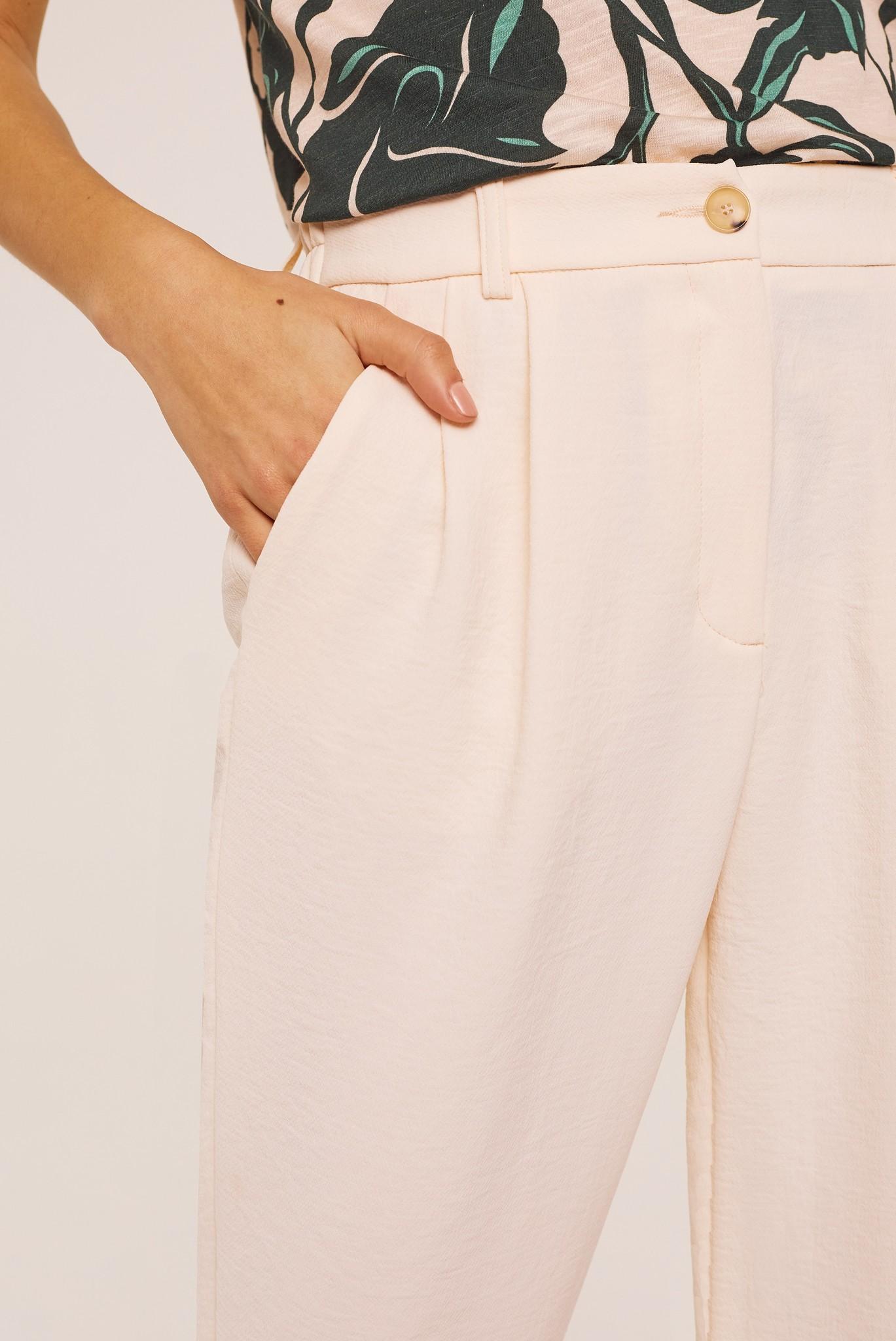 JASMINE - Укороченные фактурные брюки из крепа