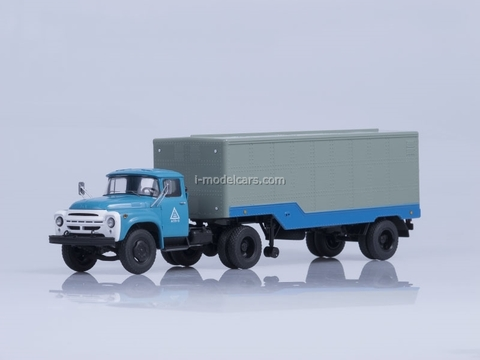 ZIL-130V1 and semitrailer ODAZ-794 blue-gray Start Scale Models (SSM) 1:43