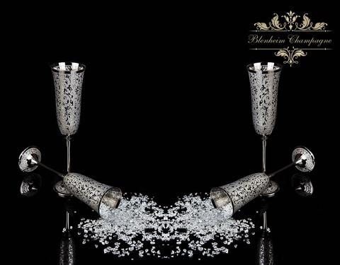 Набор для Шампанского на 2 персоны Blenheim (платина)