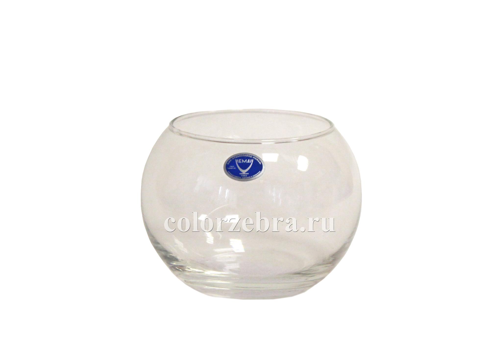 Круглая ваза из стекла