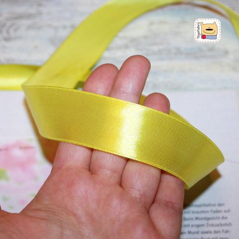 Лента атласная 25мм ЛА25-11 (лимонный) 90см