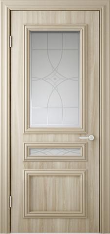 Дверь Фрегат  Неаполь, цвет бежевый ясень, остекленная