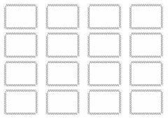 набор наклеек 4,5*6 см прямоугольные, узор