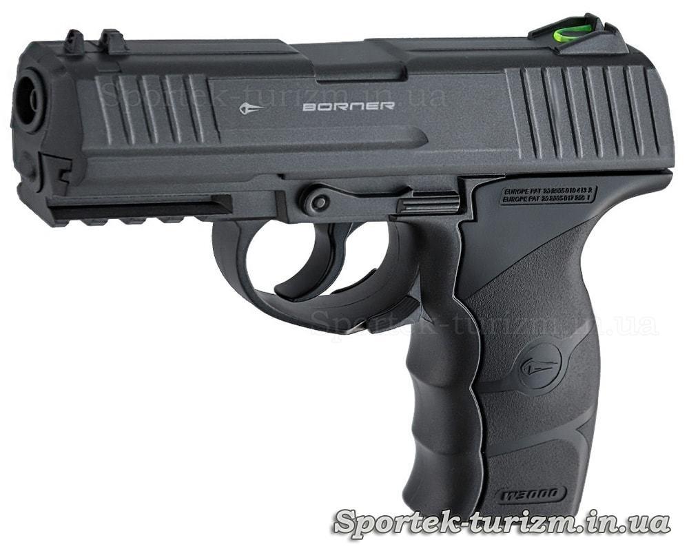 Пистолет пневматический Borner W3000M калибра 4,5 мм, газобаллонный