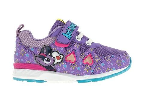 Светящиеся кроссовки Мой Маленький Пони (My Little Pony) на липучках для девочек, цвет сиреневый. Изображение 1 из 5.