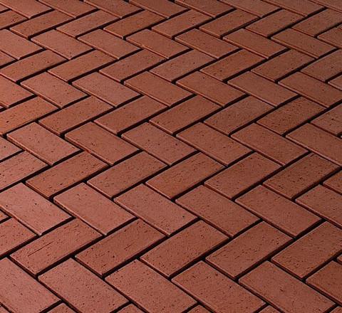 CRH - Cortona O., тёмно-красный, 200x100x45 - Клинкерная тротуарная брусчатка