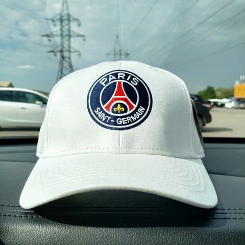 Бейсболка Пари Сен-Жермен белая (Кепка Paris Saint-Germain)