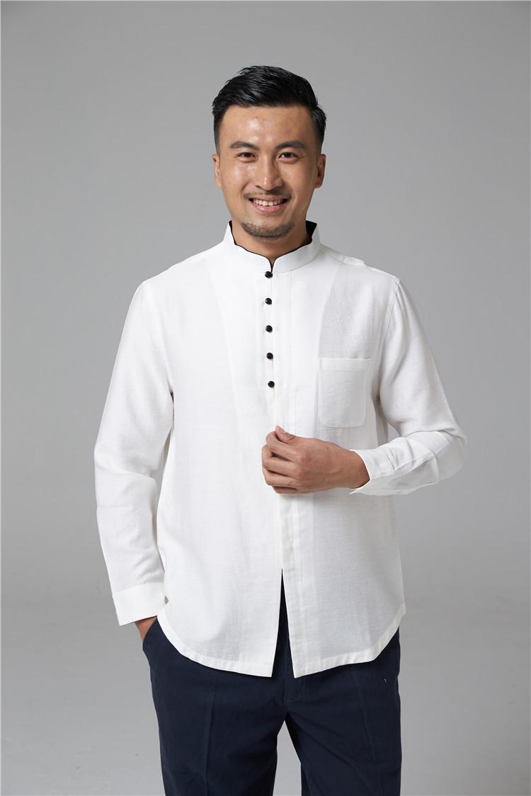 Китайская традиционная мужская рубашка  с длинным рукавом Slim Fit O1CN0100oUM21YEPPER0mRB___42443027.jpg