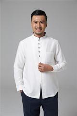 Китайская традиционная мужская рубашка  с длинным рукавом Slim Fit