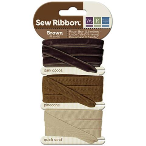 Набор лент. We R Memory Keepers Sew Ribbon - 5,5м- Brown