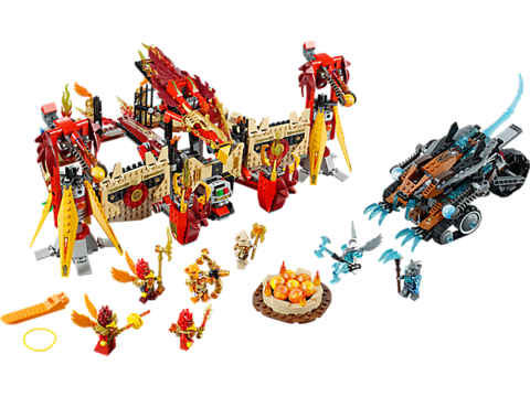 LEGO Chima: Огненный летающий Храм Фениксов 70146 — Flying Phoenix Fire Temple — Лего Чима