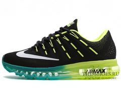 Кроссовки Мужские Nike Air Max 2016 Black Turquoise Green