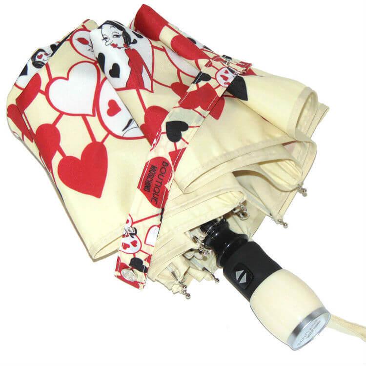 Зонт складной Moschino Boutique 7007-I Olivia Hearts