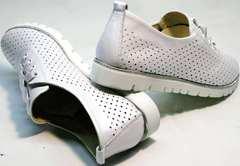 Удобные женские туфли кроссовки женские летние Mi Lord 2007 White-Pearl.