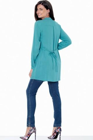 Блузка 01384 зеленый