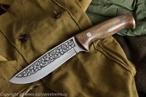Туристический нож Фазан Полированный Орех z90