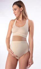 Евромама. Комплект бесшовного белья для беременных, бежевый