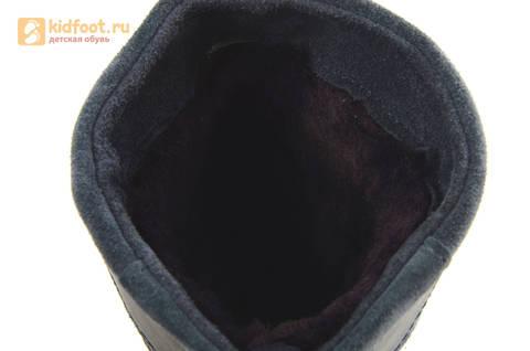 Зимние сапоги для мальчиков из натуральной кожи на меху Лель, цвет серый. Изображение 15 из 15.