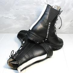 Модные зимние ботинки женские Ripka 3481 Black-White.