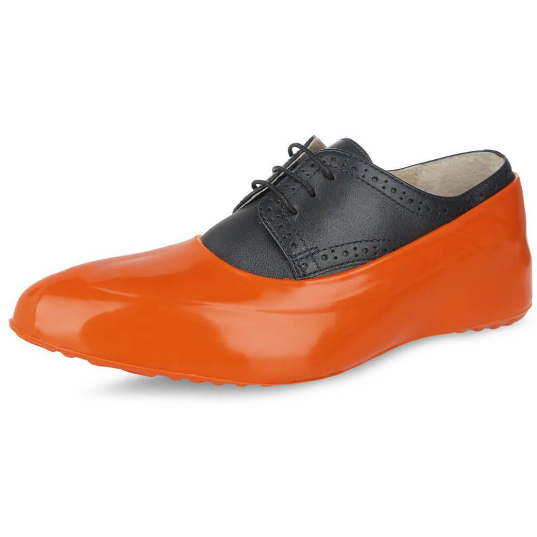 Женские галоши на обувь оранжевые