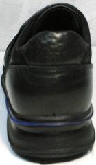 Черные классические кроссовки мужские Luciano Bellini 1087 All Black