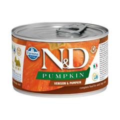 Фармина N&D Pumpkin 140 гр консервы для собак мелких пород оленина с тыквой