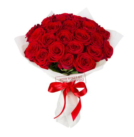 Букет из 25 красных роз (местные)