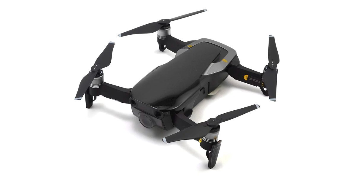 Квадрокоптер DJI MAVIC AIR Fly More Combo (EU) Onyx Black, черный вид сбоку сверху