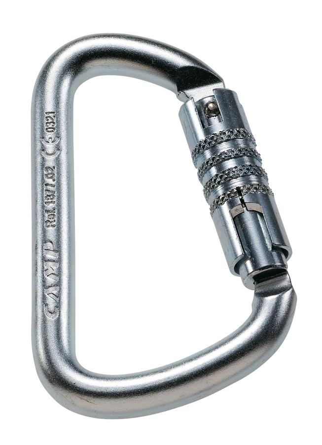 Карабин стальной D PRO 3 Lock