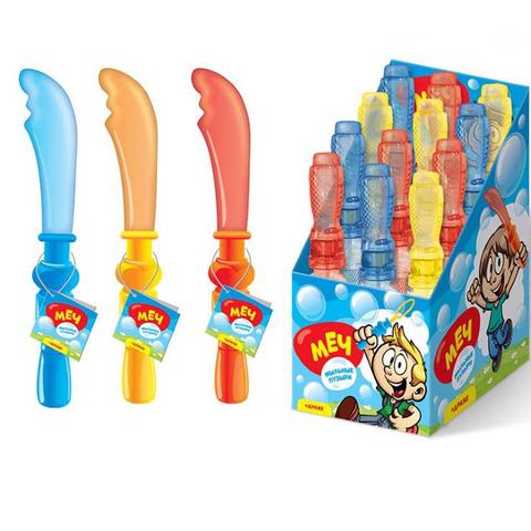СЗН ЛЕТО Драже с игрушкой для пускания мыльных пузырей (большие) Меч 1кор*8бл*12шт, 5г.