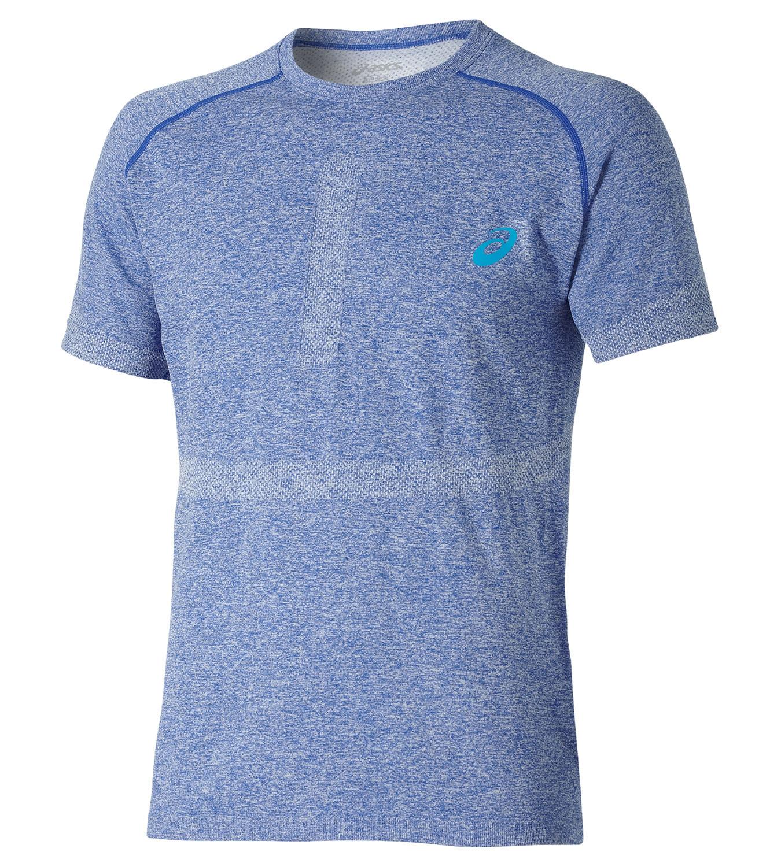Мужская спортивная футболка Asics Seamless Top (121622 8108) голубая