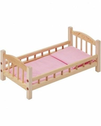Классическая кроватка для кукол Paremo розовый текстиль PFD116