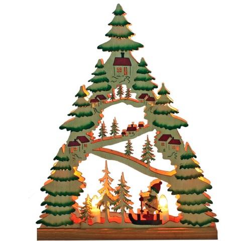 Световая фигура «Разноцветная елочка со снеговичком», LT086 (Feron)