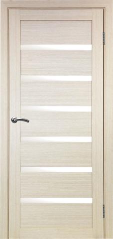 > Экошпон Optima Porte Турин 507.12, стекло матовое, цвет беленый дуб, остекленная