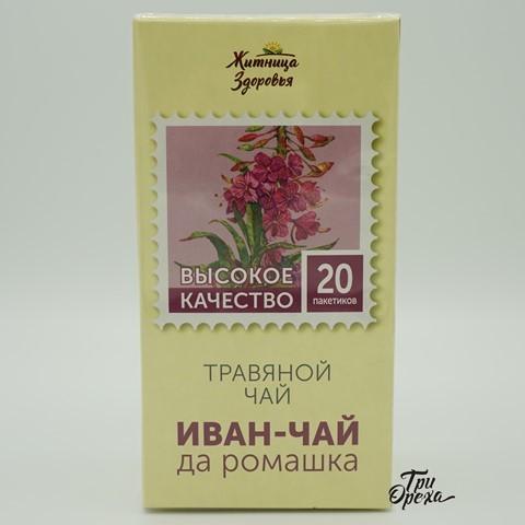 Травяной чай Иван-Чай и Ромашка ЖИТНИЦА ЗДОРОВЬЯ, 20 пакетиков