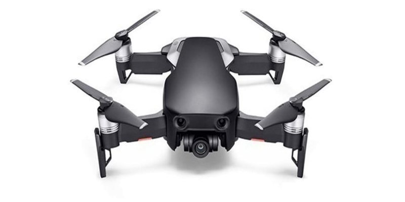 Квадрокоптер DJI MAVIC AIR Fly More Combo (EU) Onyx Black, черный вид спереди