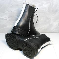 Молодежные зимние ботинки женские Ripka 3481 Black-White.