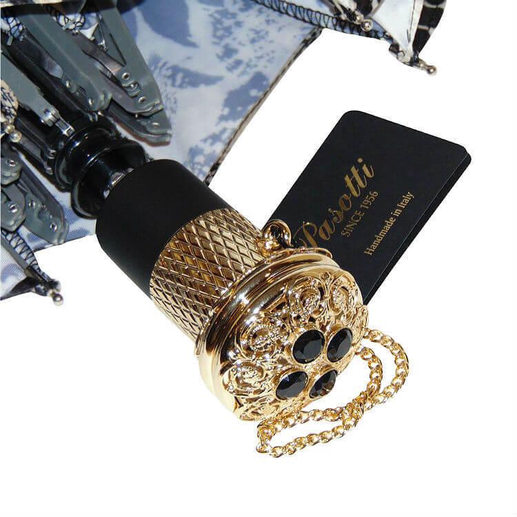 Зонт складной женский Pasotti 261S-50998/44-54 Black-Beige