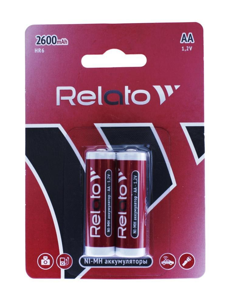 Аккумулятор Ni-MH Relato AA2600 (батареи AA 2 шт в комплекте)
