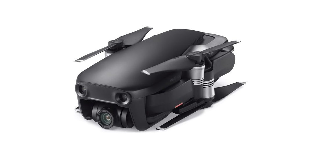 Квадрокоптер DJI MAVIC AIR Fly More Combo (EU) Onyx Black, черный сложен