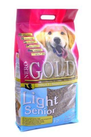 NERO GOLD Senior/Light Сухой для пожилых собак Индейка рис 12 кг.
