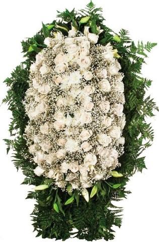 Траурный венок из живых цветов ВЖ 10 -120 см