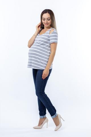 Блузка для беременных 08612 серый
