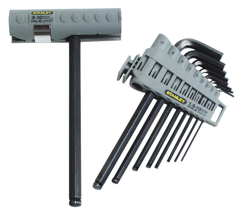 Набор ключей торцевых шестигранных метрических  Hex Grip 9шт   Stanley 0-89-904