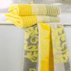 Полотенце 80х150 Cawo Noblesse 1057 Cashmere Jaquard желтое