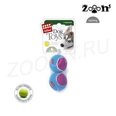 Gigwi мячи теннисные с пищалкой средние 6 см 2 шт. в упаковке